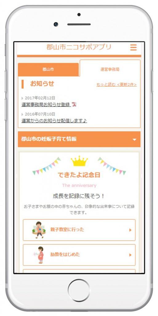 ニコサポアプリ画面